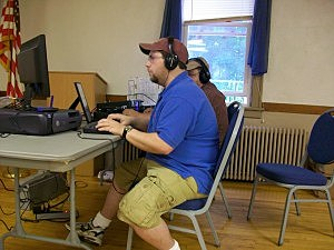 BIG Rich logs contacts for Field Day for the East Greenbush Amateur Radio Club
