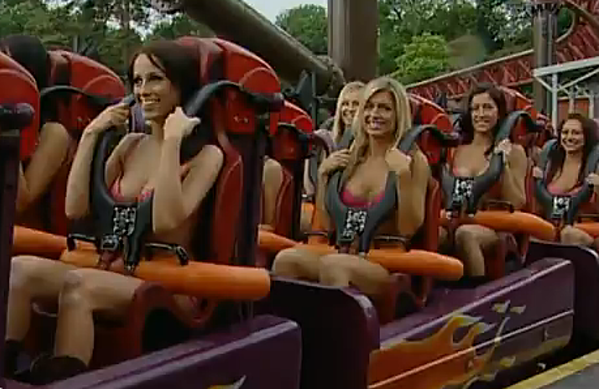 Roller coaster boobs