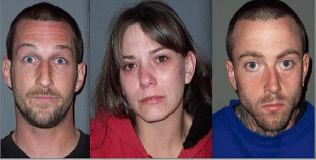 three arrested after throwing explosives at mans home
