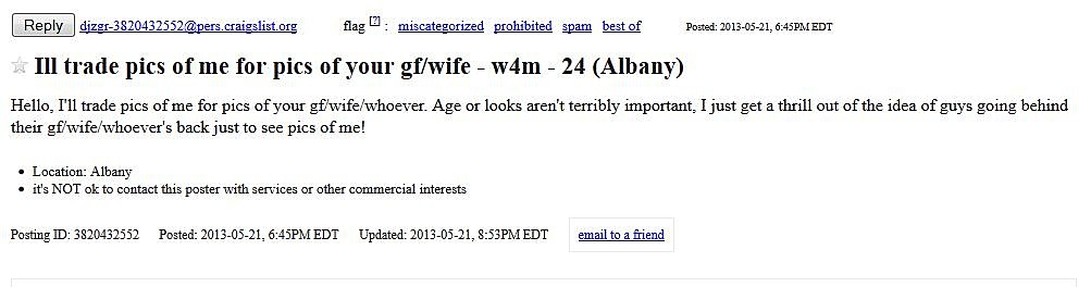 Get Laid On Hump Day, Thanks To Craigslist [POLL]
