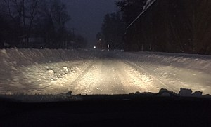 Driving through the snow!
