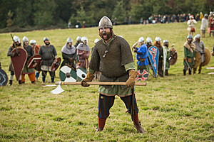 950th Anniversary Battle Of Hastings Re-enactment Take Place On The Original Site