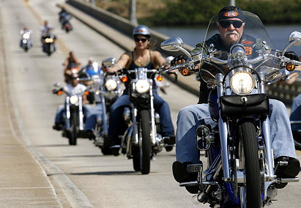 Motorcycle Madness Hits Daytona Beach During Bike Week