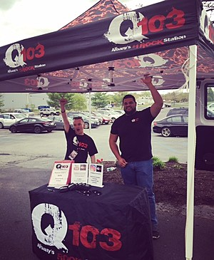 Kyle and John from the Q Crew on site and rocking for Killthrax!
