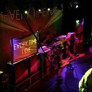 Working for Every Time I Die in early recovery.  Credit: Tatiana