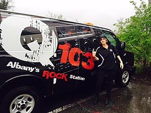 Rock Girl Tatiana gets ready to head to Clifton Park