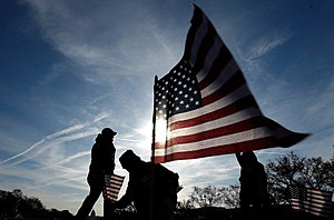 American Flags Planted On National Mall To Honor Service Members Who Committed Suicide