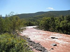 The Schoharie Creek after Hurricane Irene, taken by Rock Girl Tatiana's cousin