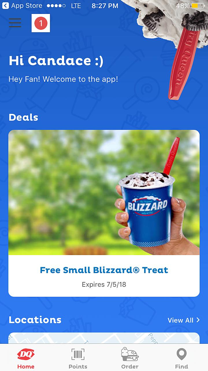 Dairy queen app